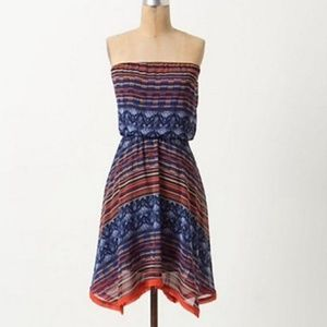 Maeve Strapless Multicolor Dress | Anthropologie